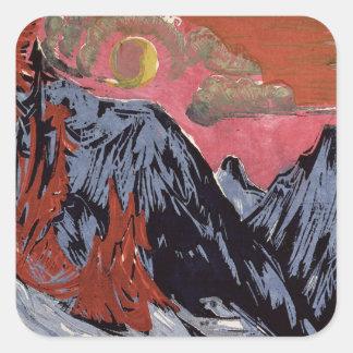 Mountains in Winter, 1919 Square Sticker