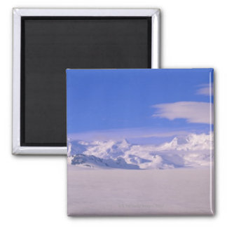 Mountains in Wrangell-St.Elias National Park 2 Inch Square Magnet