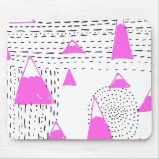 Mountains journeys - pink mouse mat