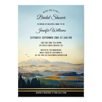 Mountains Landscape Art Bridal Shower Invitation
