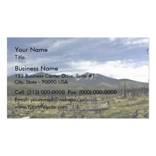 Mountains Landscape in summer Double-Sided Standard Business Cards (Pack Of 100)