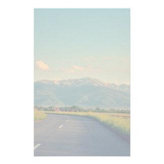 Mountains landscape stationery