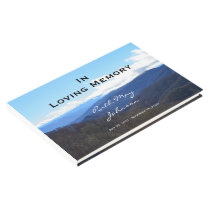 Mountains Memorial or Funeral Guest Book