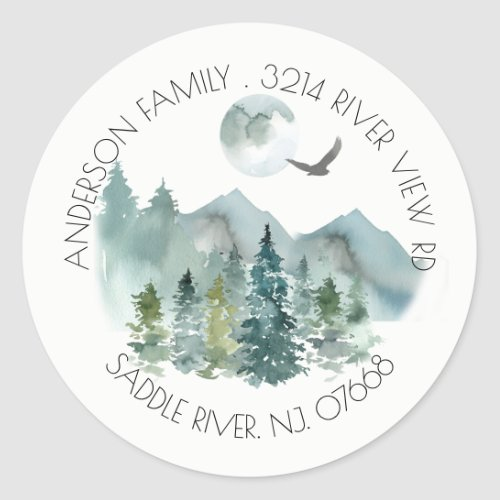 Mountains  New Home Address Label Sticker