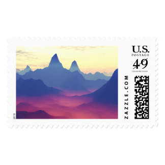 Mountains of Another World Stamp