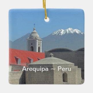 Mountains of Arequipa Peru Ceramic Ornament