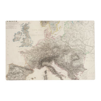 Mountains of Europe Placemat