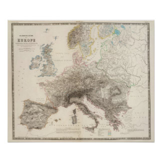 Mountains of Europe Poster