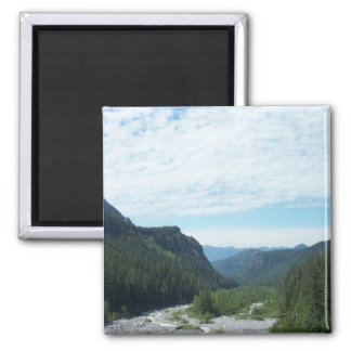 Mountains of Mt. St. Helens. 2 Inch Square Magnet