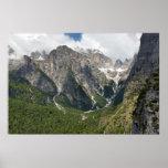 Mountains of natural park Adamello di Brenta Poster