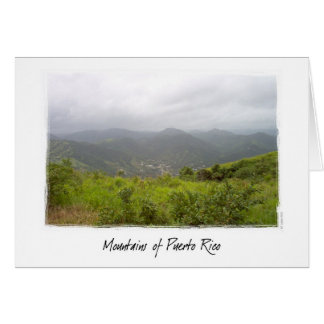 Mountains of Puerto Rico Card