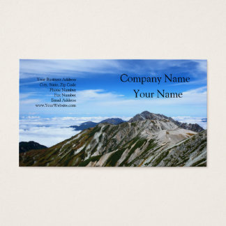 Mountains of Tateyama mountain range Business Card