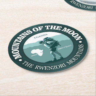 Mountains of the Moon Round Paper Coaster