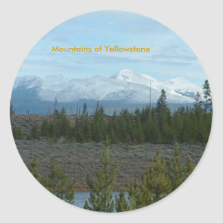 Mountains of Yellowstone Sticker