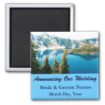 Mountains on Lake Wedding Save the Date Magnet