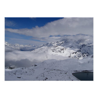 Mountains on the way to Gornergrat, Switzerland Poster