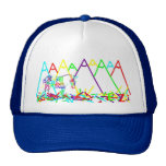 mountains or crayons mesh hat