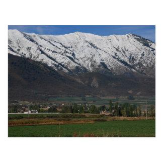 Mountains Overlooking Wellsville Postcard