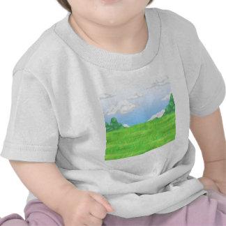 Mountains Pasture Tee Shirts
