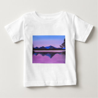 mountains reflected on lake baby T-Shirt