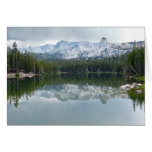 Mountains, Reflection , Lake, Blank Inside Greeting Card