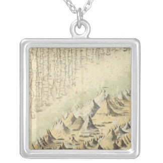 Mountains & Rivers Silver Plated Necklace
