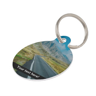 Mountains road trip pet ID tag