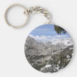 Mountains Sierras Basic Round Button Keychain