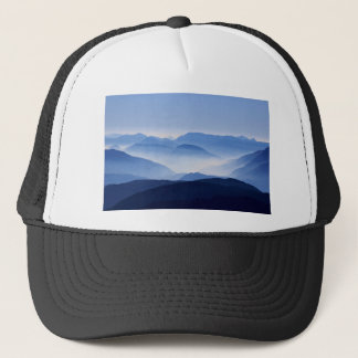 Mountains silhouette trucker hat