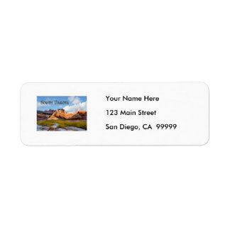 Mountains & Sky Badlands NP South Dakota Label