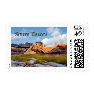 Mountains & Sky Badlands NP South Dakota Postage