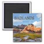Mountains & Sky in the Badlands National Park 2 Inch Square Magnet