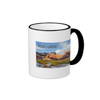 Mountains & Sky in the Badlands National Park Ringer Mug