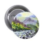 Mountains Sky Painting Destiny Artistic Nature 2 Inch Round Button