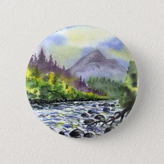 Mountains Sky Painting Destiny Artistic Nature Pinback Button