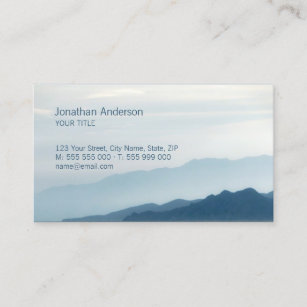 Peak business cards zazzle mountains skyline hiking business card colourmoves