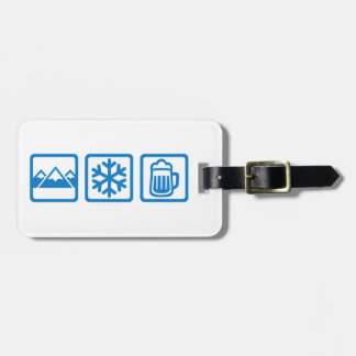 Mountains snow beer bag tag