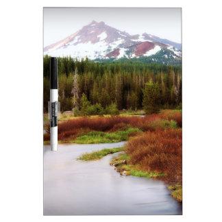 Mountains Snow Southwestern Frozen Winter Fall Dry Erase Board