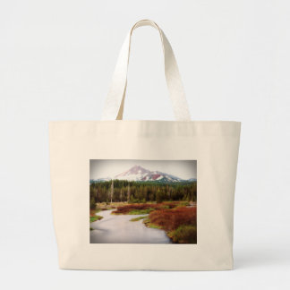 Mountains Snow Southwestern Frozen Winter Fall Large Tote Bag