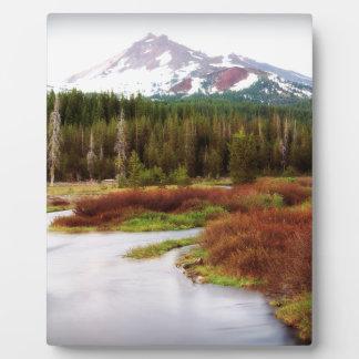 Mountains Snow Southwestern Frozen Winter Fall Plaque