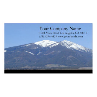 Mountains Snowy Wooded Trees Grassland Business Cards