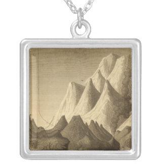 Mountains Square Pendant Necklace