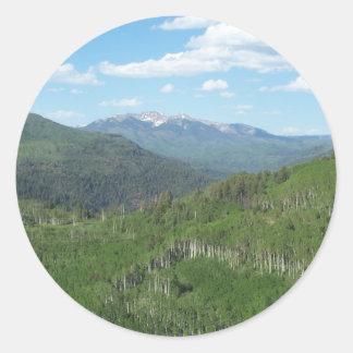 Mountains Classic Round Sticker