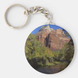 Mountains Streams Zion Basic Round Button Keychain