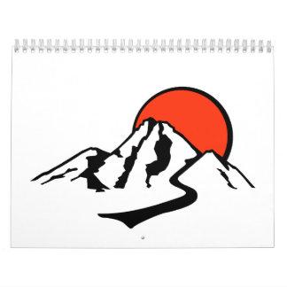 Mountains sun calendar