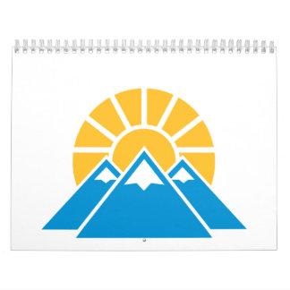 Mountains sun wall calendars