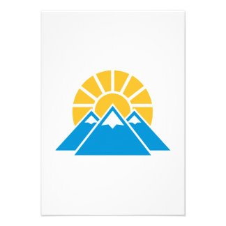 Mountains sun personalized invite