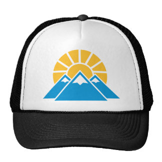 Mountains sun trucker hat