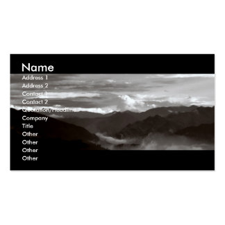 Mountains; The Ethereal/B&W Landscape Double-Sided Standard Business Cards (Pack Of 100)