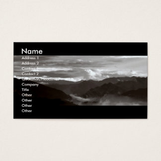 Mountains; The Ethereal/B&W Landscape Business Card